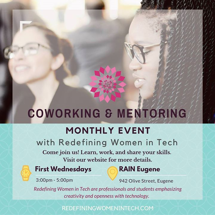 Coworking & Mentoring – RWIT #Eugene First Wednesdays
